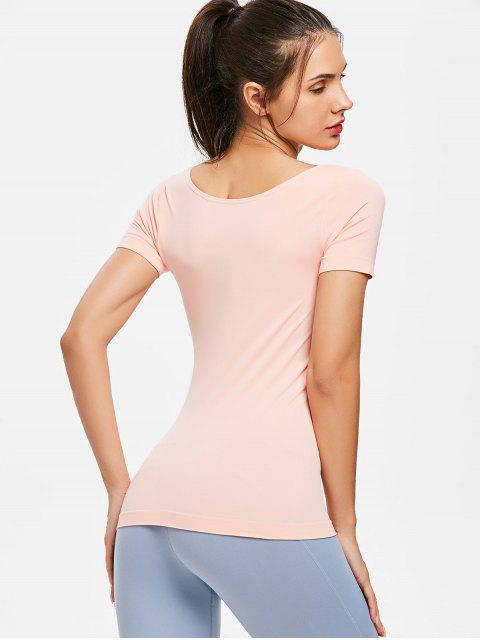 Camiseta deportiva Cross Strap Gym - Rosa Naranja L Mobile