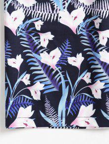 Florales Superior De Pantalones De M Gaucho Cultivos De Azul Conjunto Profundo Wn0wTOxn