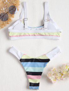 4c0ff67c6342b9 Rainbow Striped Bralette Bikini  Rainbow Striped Bralette Bikini ...