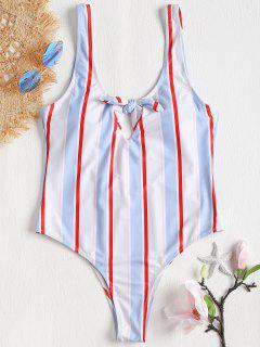 Bowknot Low Back One Piece Swimsuit - Multi-j L