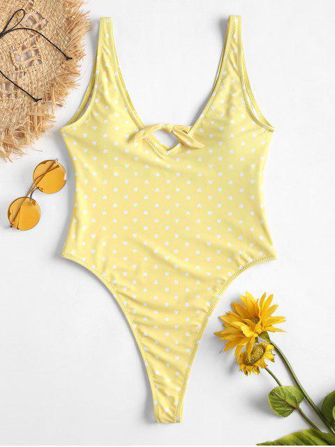 Bañador con estampado de corazones - Amarillo L Mobile