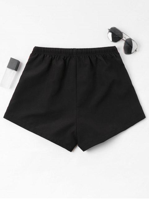 Shorts rayés taille haute - Noir S Mobile