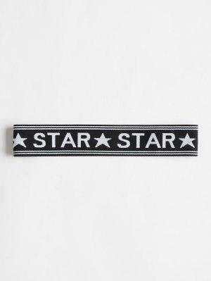 Star Graphic Elastic Workout Sportliches Stirnband