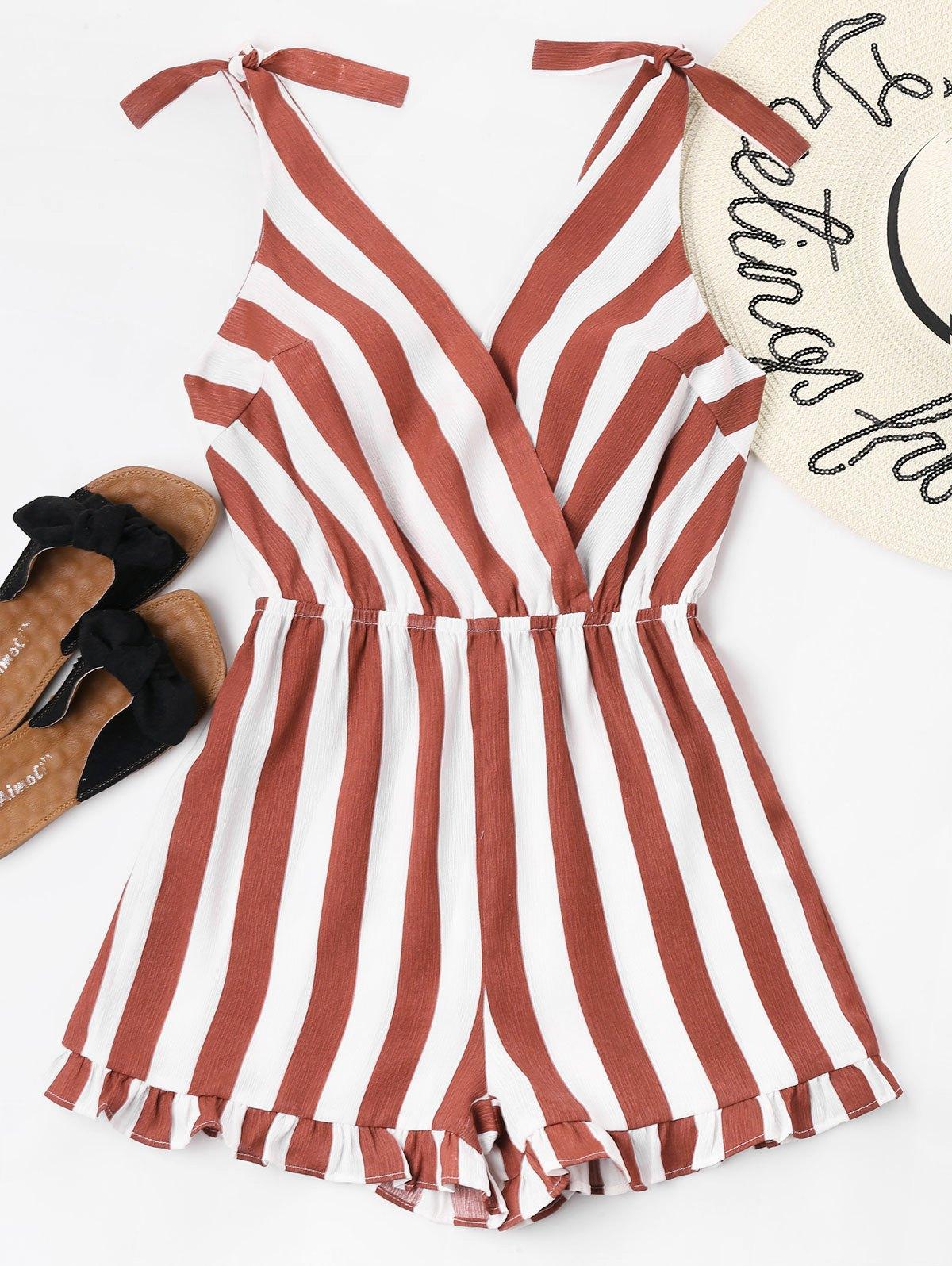 Striped Ruffle Hem Rom