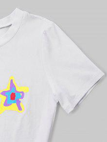 Print Blanco De Estampado Camiseta M Star nxt480