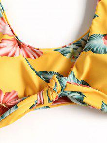 a5b67a63cb 25% OFF   HOT  2019 Front Knotted Floral Braided Bikini Set In ...