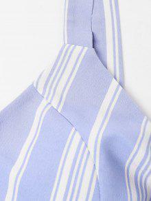 Azul Anudado Piezas A De Claro Rayas Dos S Vestido TUHxnY7n