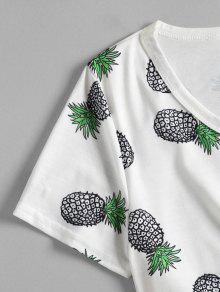 Blanco Pi Casual Con Estampado M a De Camiseta ZwqCYt8q
