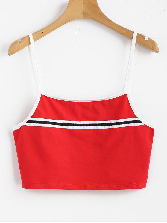 Stripes Panel Cami Tank Top - Amo Rojo L