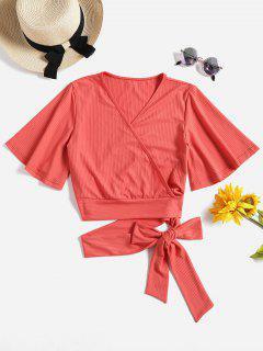 Camiseta De Tirantes Con Cuello En V - Rojo Frijol L