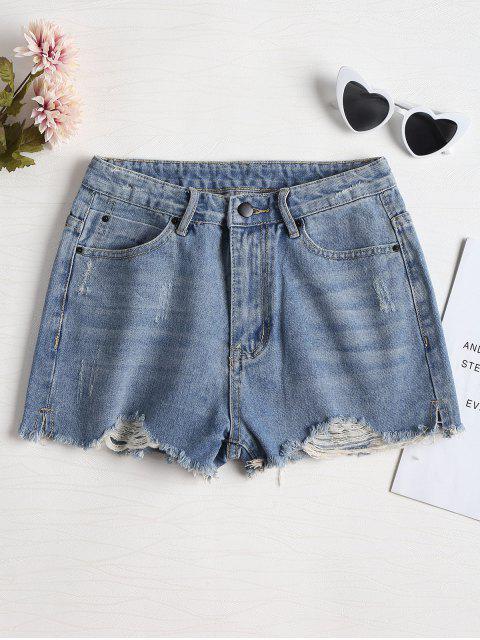 Pantalones cortos de mezclilla apenado Cutoffs - Azul Denim 30 Mobile