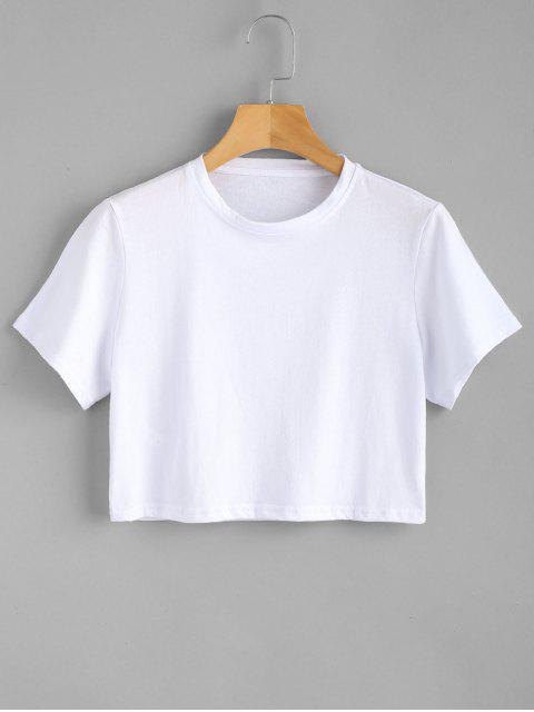 shops Side Slit Plain Top - WHITE S Mobile