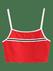 Tank Stripes Rojo Top Panel M Amo Cami Rww6xv