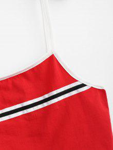 Top Cami Amo Panel M Rojo Tank Stripes fS4aRw
