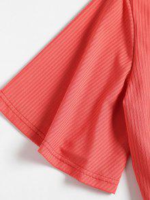 De V Tirantes Rojo En Frijol Cuello Camiseta S Con HAxqwp