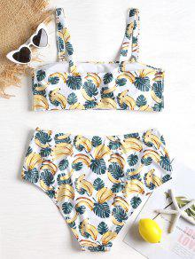 Banana Size Leaf 1x Bikini Set Blanco Plus rxrwOqa