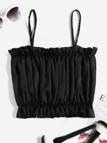 Top Shimmer Crop S Frilled Cami Negro qR8awv