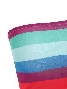 a Del Multicolor Parte Contraste Tubo Superior De M gxqB6w