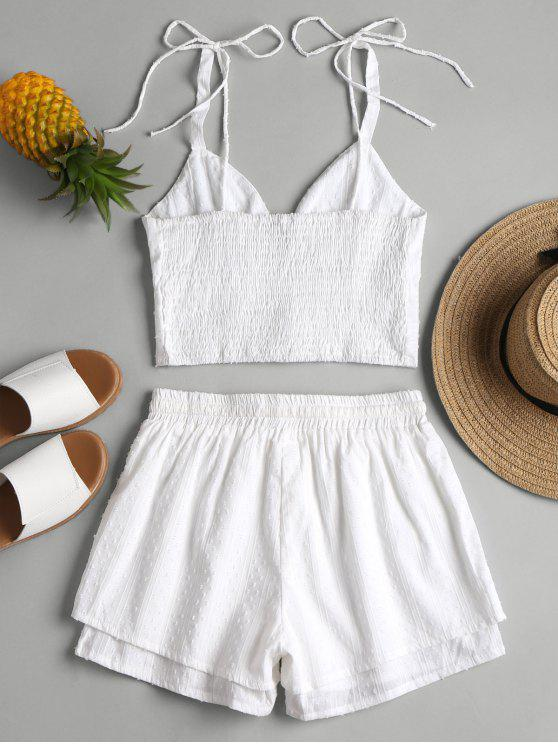 Layered M White Shorts Top Bralette Piece Set Two And SwqEw8xgH