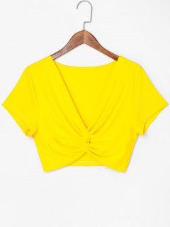 Camiseta Con Cuello Redondo Twist - Amarillo De Sol  L