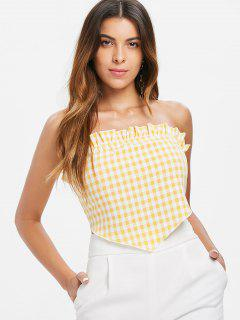 Ruffles Gingham Top - Yellow Xl
