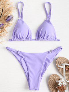 Cami Tülle String Bikini - Mauve L