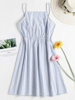 Knotted Stripes Cami Dress - Blue Angel M