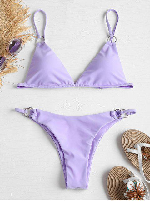 buy Grommet Micro String Bikini - PURPLE MIMOSA L Mobile