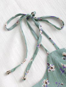Rayas Azul S A Floral Anudado Opaco Anudado Vestido wfqRBaR