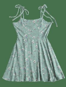 Azul A S Opaco Rayas Floral Anudado Anudado Vestido XwfCAxq
