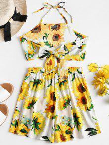 Piezas Sunflower Dos Multicolor Top Shorts Conjunto A M De Juego pxgprX