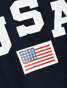 Profundo 243;tica Ringer Azul Patri Americana Con L De Ringer Camiseta Bandera SzIqw5