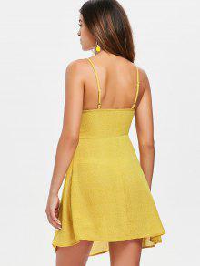 Vestido Punteado Amarillo Con Lazo Cami Brillante S r5qwpr1x