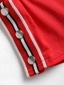 Shorts Parte En Superior Rayas Rojo Piezas Y Amo L Dos Con La r7x4rHq