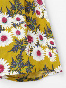De L Con Marr Camisa Dorado Volantes Estampado 243;n Floral 8dxq4T