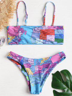 Karte Drucken Hohe Schlitz Bikini - Multi M