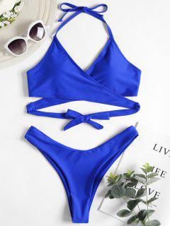 Conjunto De Bikini De Corte Alto - Azul Cobalto M