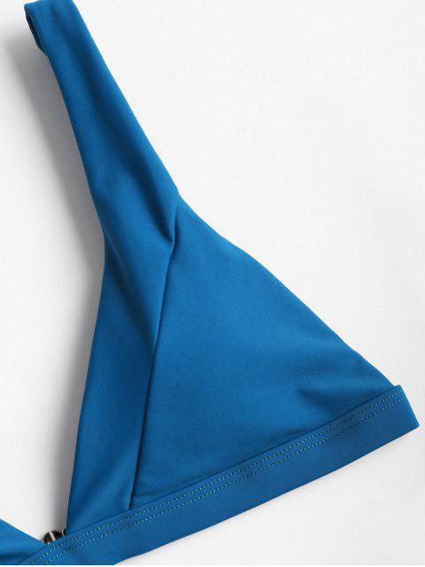 buy Plunge High Leg Bikini - SAPPHIRE BLUE M Mobile
