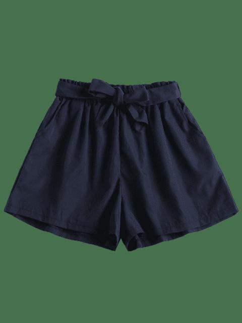 Short Taille Haute en Papier - Bleu profond S Mobile