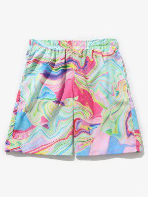 Pantalones cortos con cordones estampados coloridos