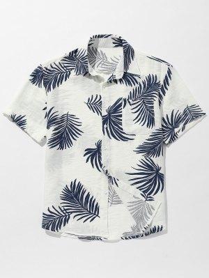 Camisa con botones estampados en las hojas del bolsillo