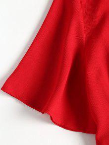 Hem Pierna Vestido Rojo Con Y M Media De Pep Casta Lazo Dobladillo A o qAAfzZ