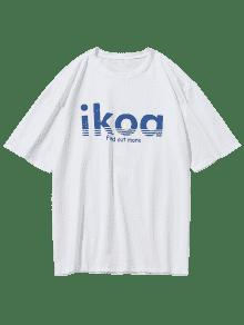 Blanco Camiseta Corta De Verano Xs Estampada De Manga TTPYRq