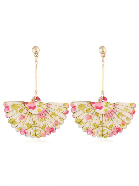 Pendientes decorativos del gancho del banquete de boda del ventilador floral - Rosa
