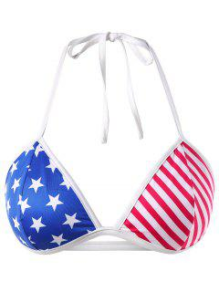 Plus Size American Flag Bra Top - Multi L
