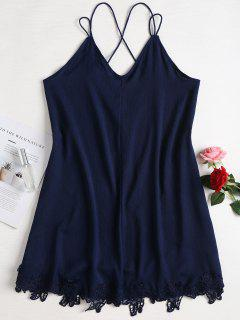 Mini Strappy Slip Dress - Midnight Blue M