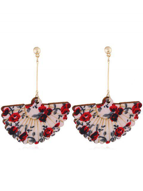 Pendientes decorativos del gancho del banquete de boda del ventilador floral - Rojo  Mobile