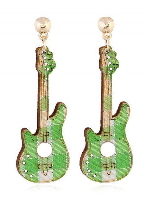 sale Guitar Decorative Party Dangle Earrings - GREEN  Mobile