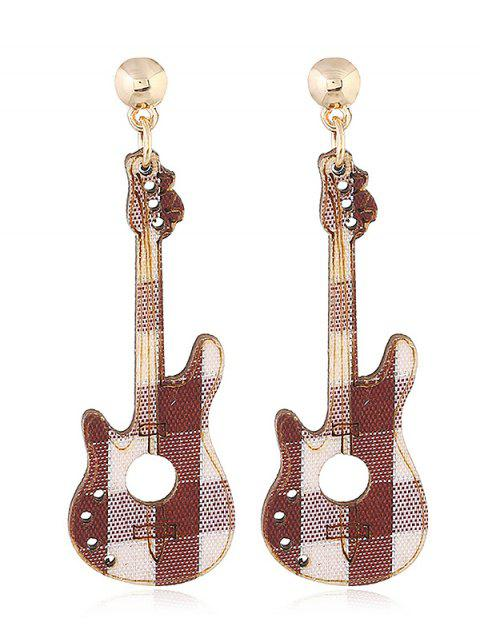 lady Guitar Decorative Party Dangle Earrings - COFFEE  Mobile