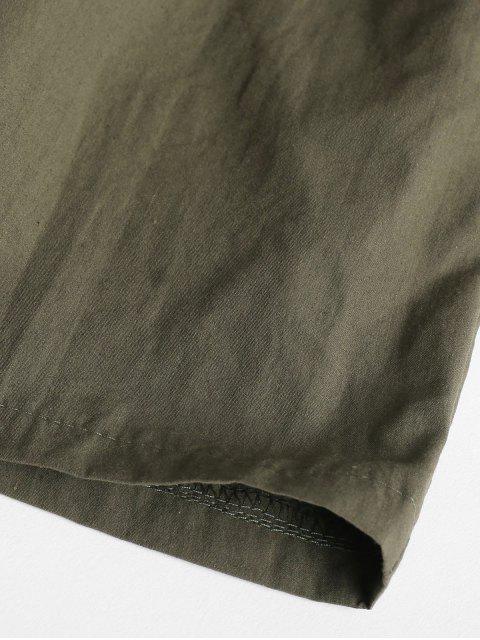Short Taille Haute en Papier - Vert Armée  L Mobile